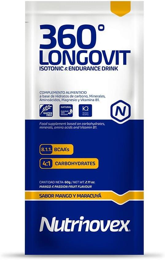 Bebida isotónica y energética Nutrinovex 360º Longovit con BCAAs ...