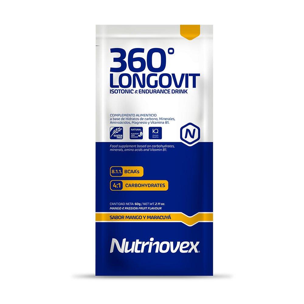 Nutrinovex bebida energética e isotónica 360º Longovit, Sabor Mango y maracuyá - 1 Paquetes de 12 x 60 gr: Amazon.es: Salud y cuidado personal