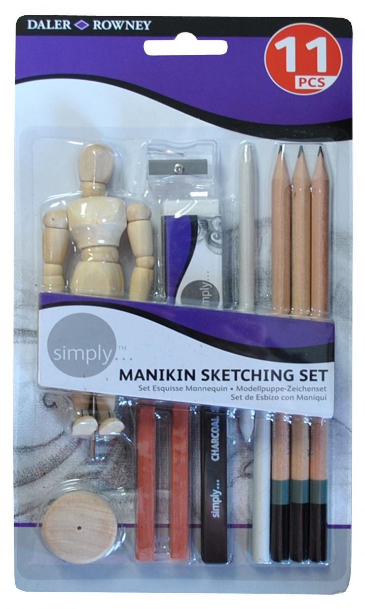 Daler Rowney Simply Manikin Sketching Set 644200100