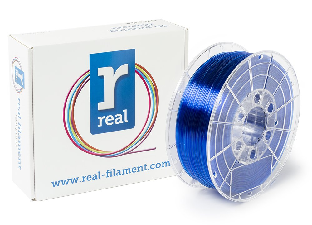 Real Filament 8719128327235 Real PETG, Spool of 1 kg, 1.75 mm, Transparent Blue NLPETGBLUE1000MM175