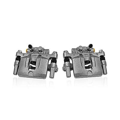 Callahan CCK04740 [2] REAR Premium Original Remanufactured Brake Calipers + Hardware [ fit Buick Lucerne Cadillac DTS ]: Automotive