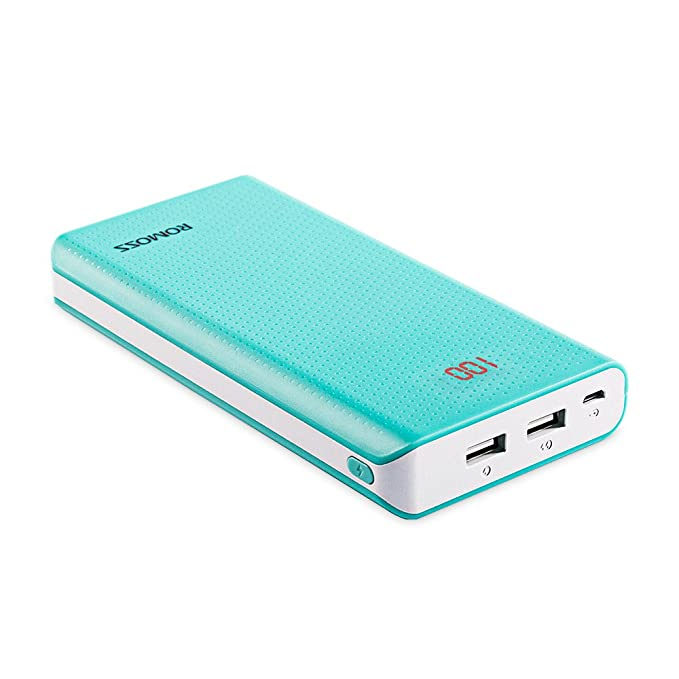 9a390d44becac2 ROMOSS Sense 6 20000mAh 2-Port Power Bank, Large Capacity Portable Charger  External Batteries