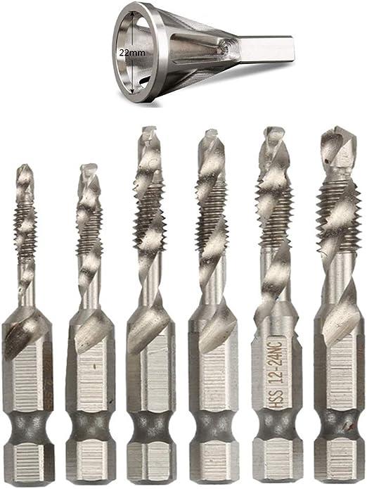 Stainless Steel Deburring External Chamfer Tool Drill Bit Remove Burr Silver Set