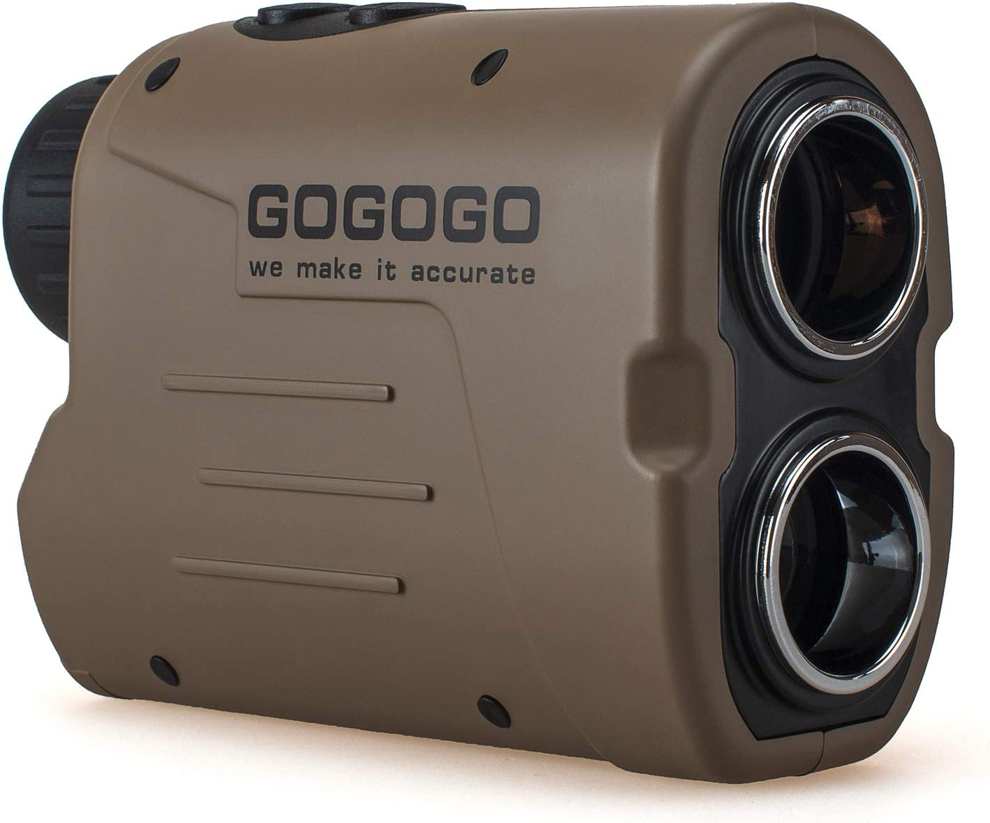Gogogo Sport Laser Golf & Hunting Rangefinder 1200 Yards 6X Magnification Laser Range Finder with Pin-Seeker & Flag-Lock