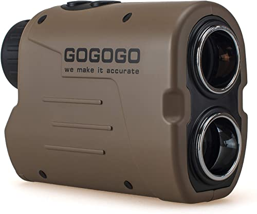Gogogo Sport Laser Golf Hunting Rangefinder 1200 Yards 6X Magnification Laser Range Finder with Pin-Seeker Flag-Lock