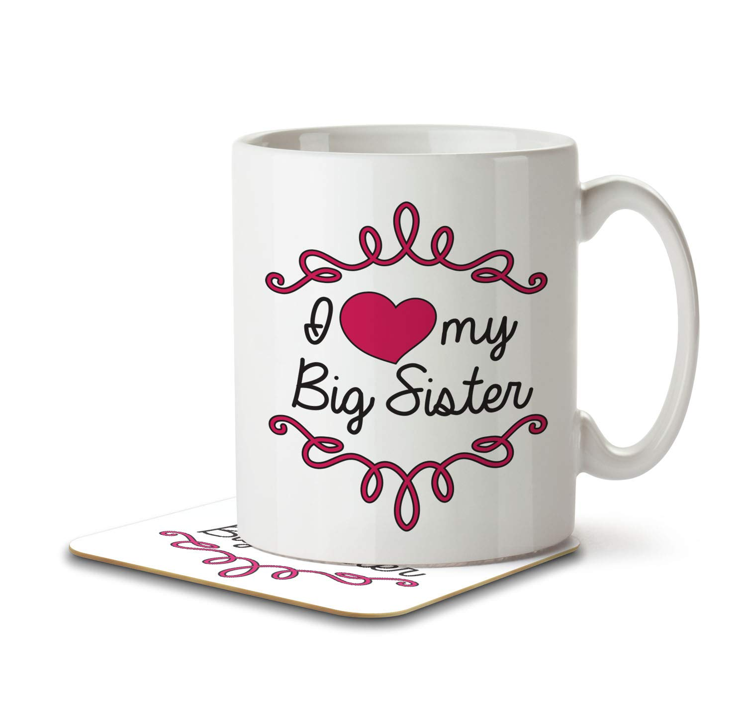 Mug and Coaster by Inky Penguin Home is Where Mum is