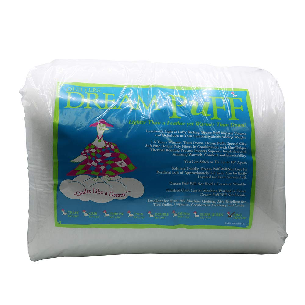 Quilters Dream Puff White Poly King Batting DREAM PUFF KING