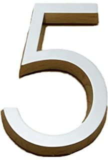 Selbstklebende Chrom Zahlen silber Auto T/ür Nummer 3D Hag H/öhe 5/cm Nummer 8