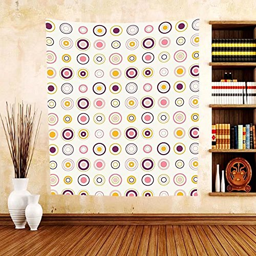 Price comparison product image Gzhihine Custom tapestry Retro Tapestry Striped Polygons Linked Continuous Conceptual Art Creative Motif for Bedroom Living Room Dorm Plum Light Pink Marigold Cream
