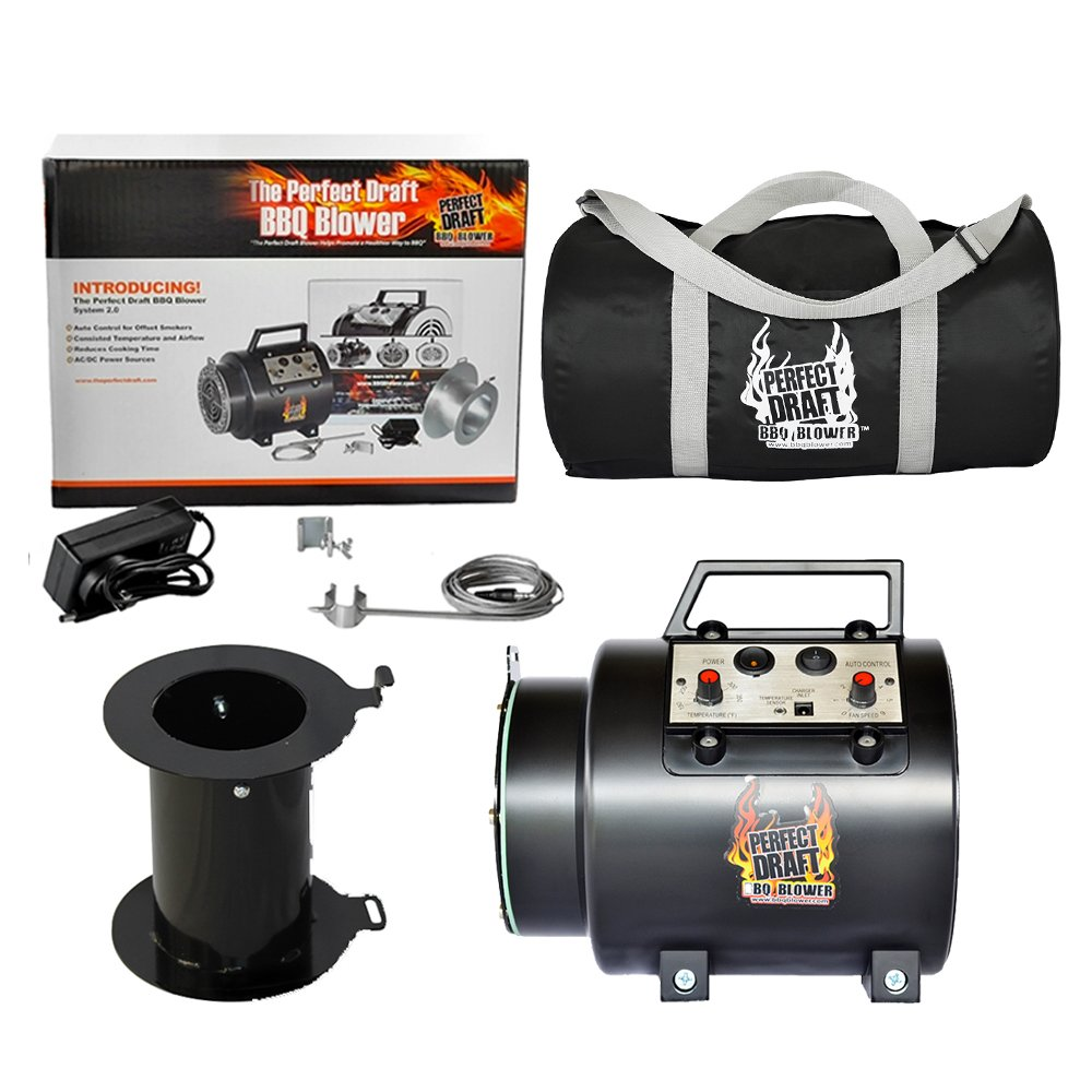 Perfect Draft The BBQ Blower 2.0 with Universal Adapter and Duffle Carry Bag Protect Your Blower