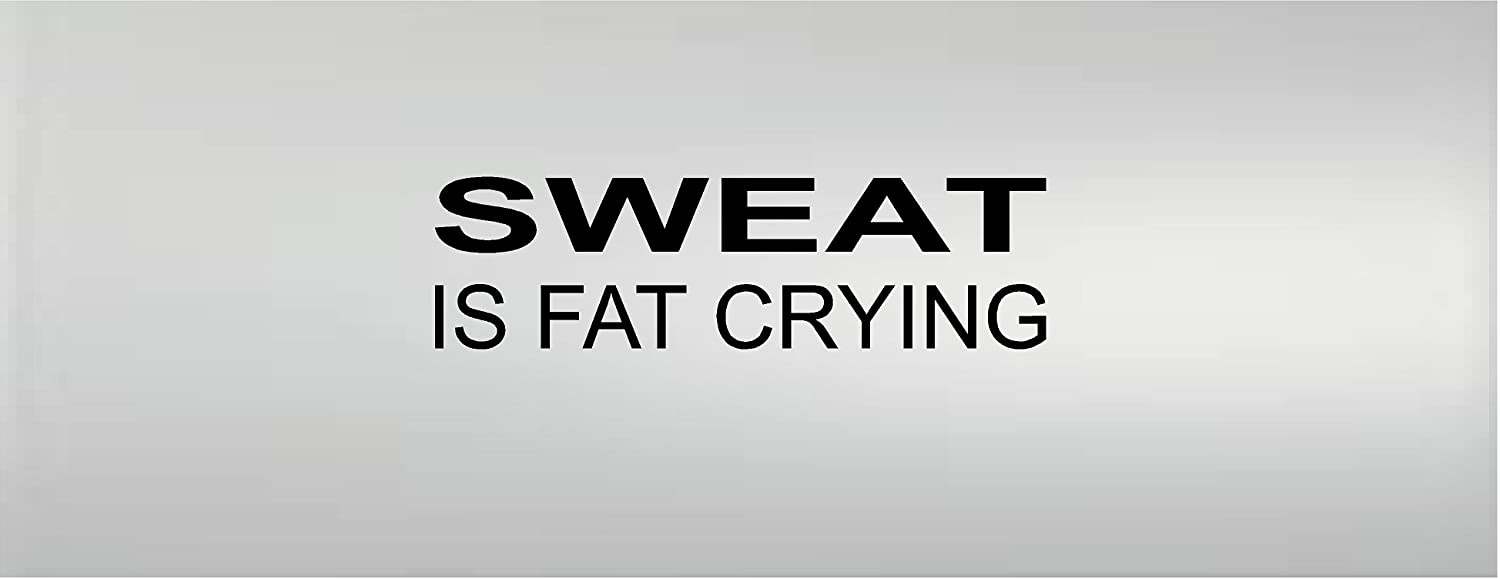 Sweat Is Fat Crying Fitness Workout Gym Motivational Vinyl Wall Decal Sticker Wall Letters G /& B Vinyl Decals #2589875r