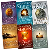 George R. R. Martin A Song of Ice and Fire 6 Books Collection Pack Set RRP: �69.95 (A Feast for Crows, A Storm of Swords: Blood and Gold: , A Storm of Swords: Steel and Snow: Part 1 of, A Clash of Kings, A Game of Thrones, A Dance With Dragons (Hardcover))by George R. R. Martin