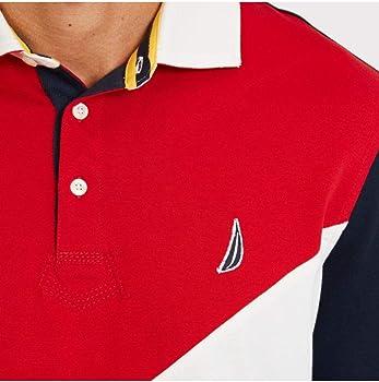 Nautica Hombre K83502 Manga Larga Camisa Polo - Rojo - X-Large ...
