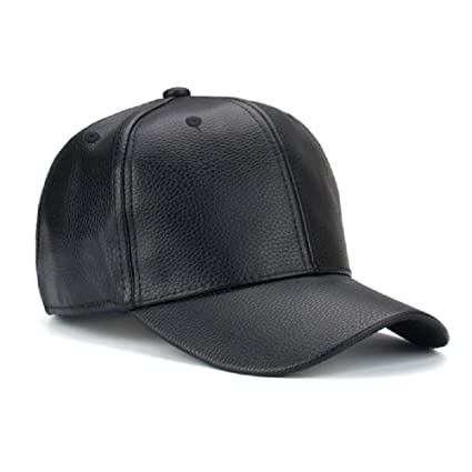 Buy Handcuffs Stylish Leather PU Leather Hip Hop Cap (Black) Online at Low  Prices in India - Amazon.in 429eba3ce7d