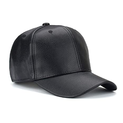 Buy Handcuffs Stylish Leather PU Leather Hip Hop Cap (Black) Online at Low  Prices in India - Amazon.in a67c899b1f03