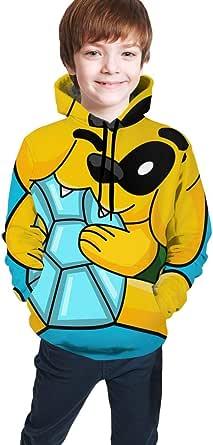 Yaxinduobao Mikecra-CK Impresión Digital 3D de Moda, Jersey para niños Ropa Jerséis Suéter Superior Sudadera con Capucha para jóvenes Cómoda Sudadera para niños/niñas