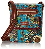 Sakroots Artist Circle Small Flap Messenger Cross Body Bag, Teal Spirit Desert, One Size