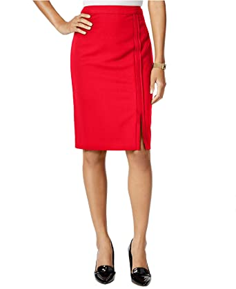 a425e1e2 Tommy Hilfiger Womens Twill Side Slit Pencil Skirt at Amazon Women's ...