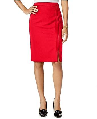 69016529b8 Tommy Hilfiger Womens Twill Side Slit Pencil Skirt at Amazon Women's ...