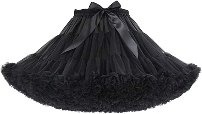 US Stock 6 Layers Women Tutu Tulle Skirt Petticoat Ballet Dance Homecoming Dress