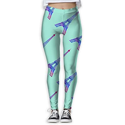 preview of new styles extremely unique Ninena Chy Eiffel Tower Womens Active Yoga Leggings ...