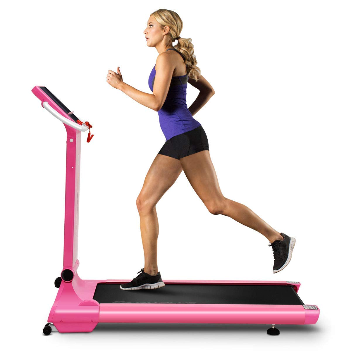 Goplus 1.5HP Electric Folding Treadmill Portable Motorized Running Machine Home Gym Cardio Fitness w/App (Pink) by Goplus (Image #4)