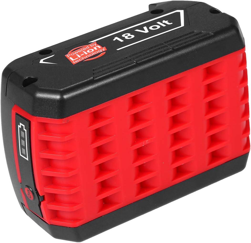 KKmoon Batterie Rechargeable au Lithium 18V 6000mAh pour Outils sans fil Bosch Batterie avec Lampe pour Bosch BAT609 BAT609G BAT618 BAT618G