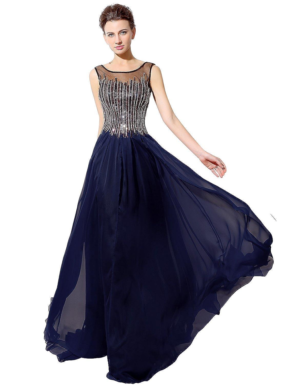 Favebridal Women's Long Formal Sleeveless Prom Dress LX025