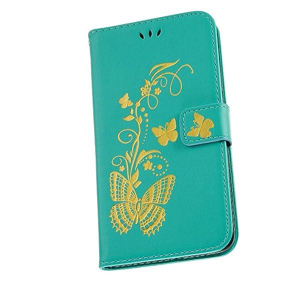 Amazon com: Butterfly Elegant Noble PU Leather Shockproof