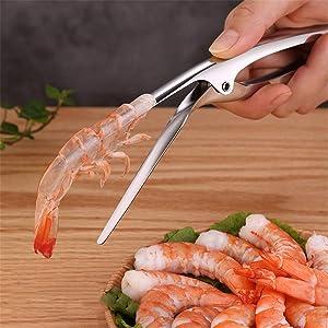 Shrimp Peeler Stainless Steel Prawn Shrimp Peeling Plier Deveiners Kitchen Crayfish Shrimp Stripping Peelers Peel Seafood Tools