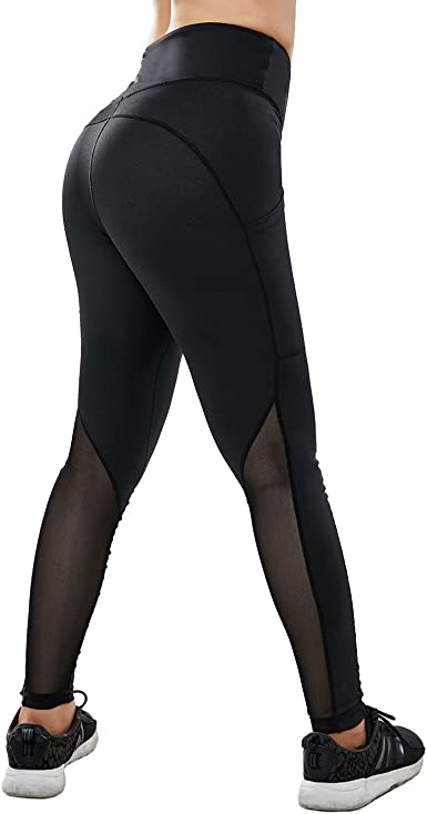 Amazon Com Vaburs Women High Waist Athletic Leggings With Inside Small Pocket And Outside Phone Pocket For Gym Workout Yoga Running Clothing