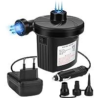 Awroutdoor Bomba de Aire Eléctrica,Bomba De Aire Portátil para Inflar/Desinflar Bote Inflable, Colchón de Aire, Juguetes Hinchable, con 3 Boquillas,230V AC / 12V DC