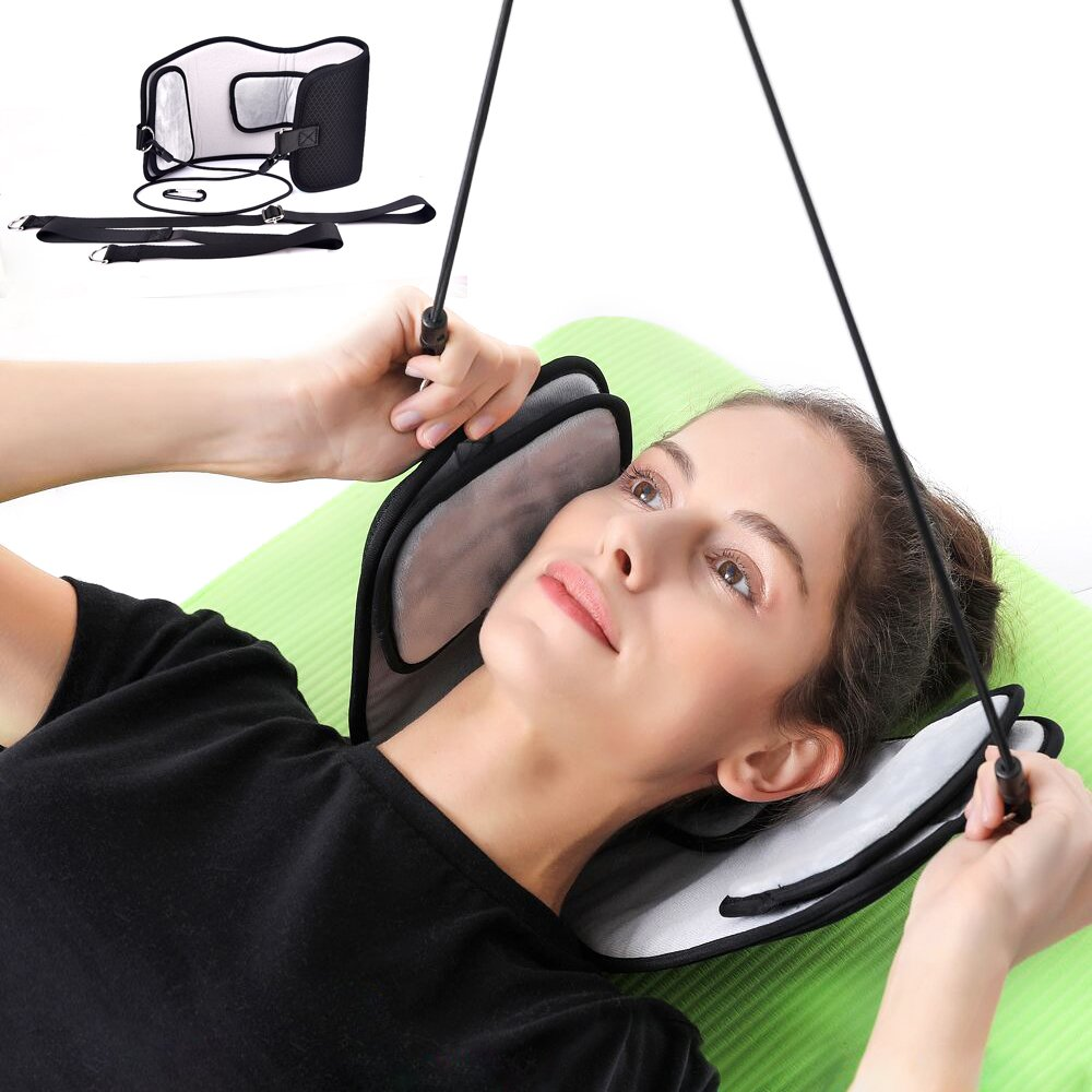 MS.DEAR Head Hammock for Neck Pain Relief, Hammock Stretcher Cervical Traction for Neck, With One Eye Mask for Sleeping