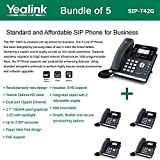 Yealink SIP-T42G 3-Line Ultra-Elegant Gigabit IP Phone (5-Pack)