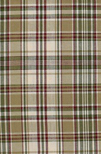 Curtains Plaid Green (Park Designs Thyme Window Treatment Tier, 72 x 24