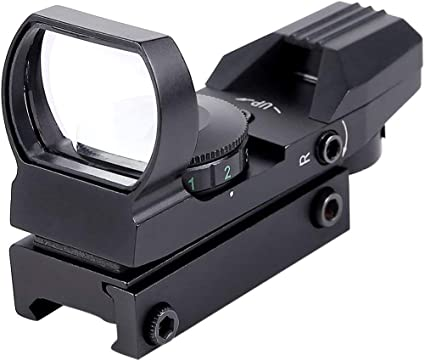 New Holographic 4 Reticle Red//Green Dot Tactical Reflex Sight Scope Hunting