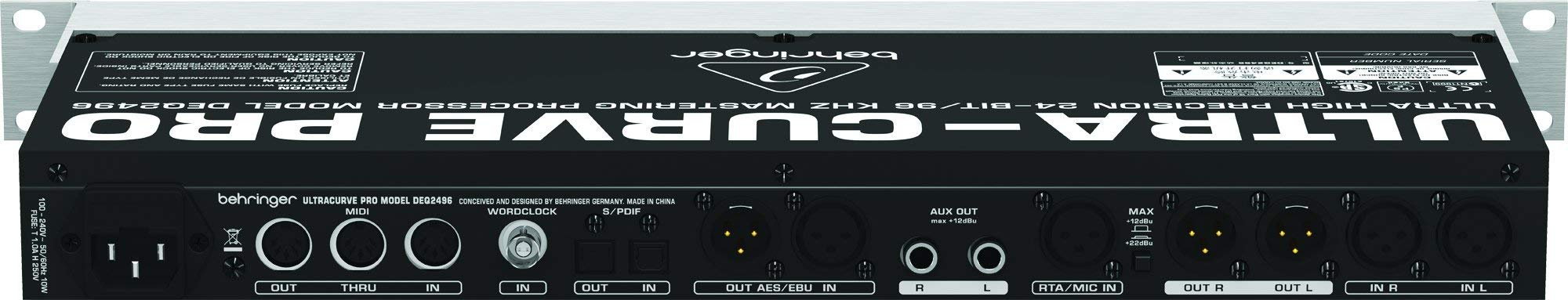 Behringer Ultracurve Pro DEQ2496 Ultra-High Precision 24-Bit/96 kHz Equalizer, Analyzer, Feedback Destroyer and Mastering Processor (Certified Refurbished) by Behringer (Image #6)