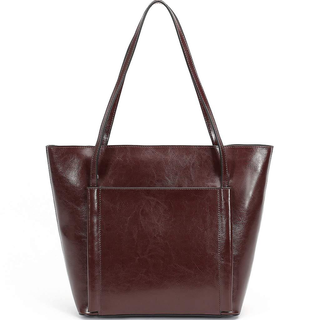 Dark Brown KB Ladies Shoulder Bag Leather Casual Style