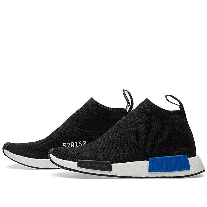 Adidas Originals hombres NMD ciudad Sock PK negro y azul mocasines
