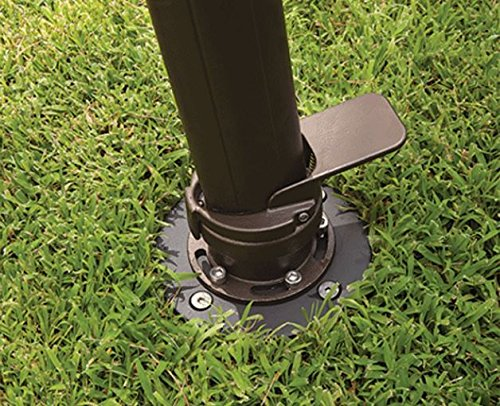 Treasure Garden 10' Square AKZ Umbrella Base In-Ground Mount Kit - Bronze