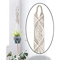 ecofynd® Macrame Cotton Plant Hanger [Without Pot] | Rope Flower Pot Holder for Indoor Outdoor Balcony Garden Wall | Home Décor Basket Hanger
