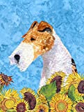 Caroline's Treasures SS4111GF Fox Terrier Flag, Small, Multicolor