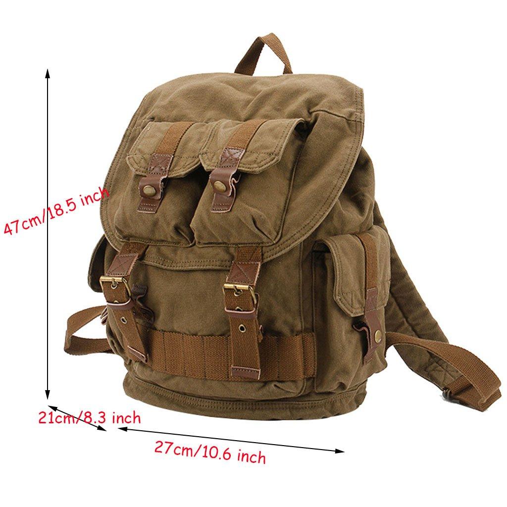 2976425fcf Sport e tempo libero PPGE Tela Zaini Vintage Zaino Uomo Donna Unisex Canvas  Backpack Rucksack Viaggio Zaino Trekking ...