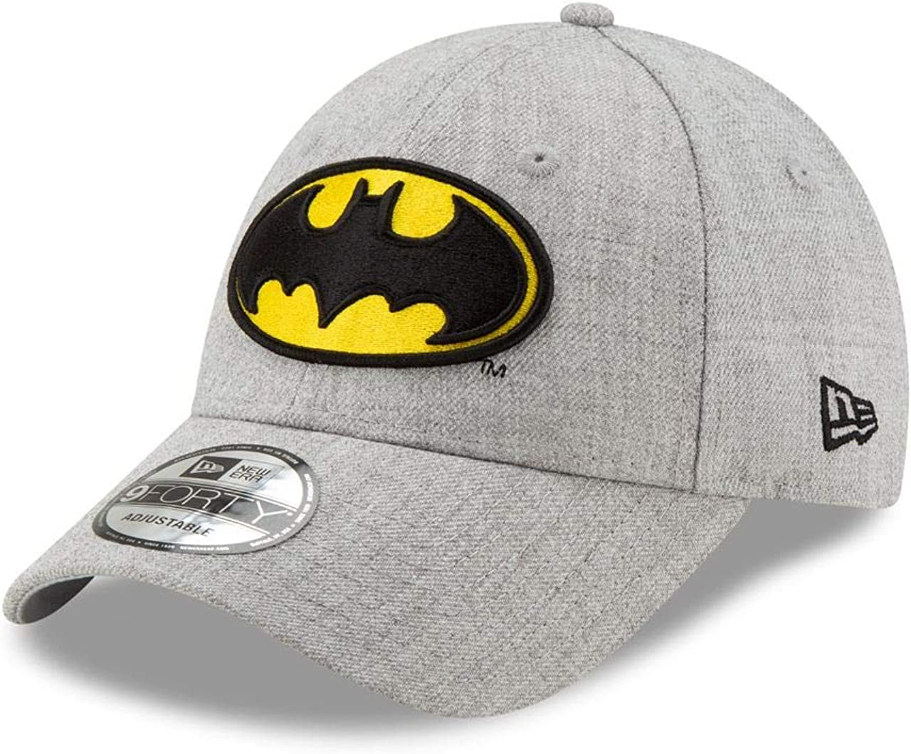 New Era - Gorra Ajustable con Logo de Batman, Color Gris: Amazon ...