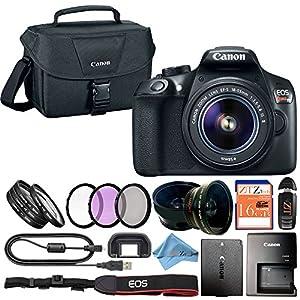 Canon EOS Rebel T6 18MP Digital SLR Camera Retail Packaging Bundle