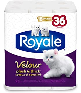 Royale Velour Plush And Thick Toilet Paper 15 Double Rolls 142