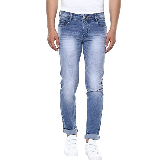 3a63284b0cb BUKKL Men s Denim Stretchable Slim Fit Jeans  Amazon.in  Clothing ...