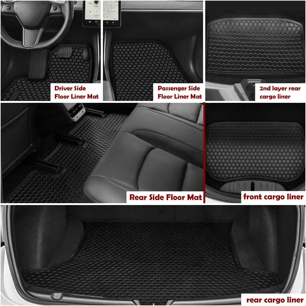 TeddyTT Floor Mats Compatible with BMW 3 Series 2014 2015 2016 2017 Heavy Duty Rubber Front/&Rear Car Carpet Waterproof Custom Seasons Odorless All Weather Prevent Dirt from Entering 4PCS