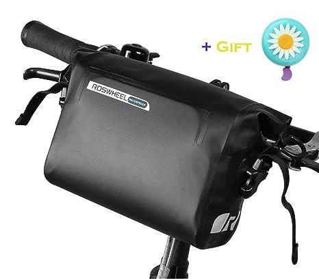 3cb4c57cd04 Roswheel Bike Handlebar Bag - Waterproof Bicycle Front Bag Adjustable  Cellphone Bag - Tools Organizer Pack with 3L Capacity for Bicycle MTB Road  Bike
