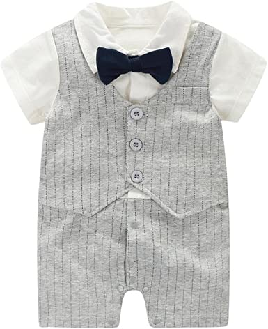 New Baby Toddler Boys Black White Shorts Suit 4 Pc Set Outfit Easter Wedding 850
